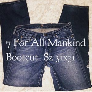 7 For All Mankind • Bootcut • Sz 31x31
